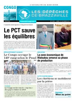 Les Dépêches de Brazzaville : Édition brazzaville du 27 octobre 2014
