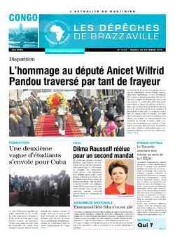 Les Dépêches de Brazzaville : Édition brazzaville du 28 octobre 2014