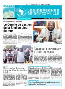Les Dépêches de Brazzaville : Édition kinshasa du 28 octobre 2014