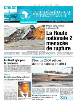 Les Dépêches de Brazzaville : Édition brazzaville du 29 octobre 2014
