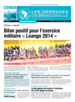 Les Dépêches de Brazzaville : Édition brazzaville du 30 octobre 2014