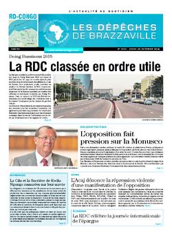 Les Dépêches de Brazzaville : Édition kinshasa du 30 octobre 2014