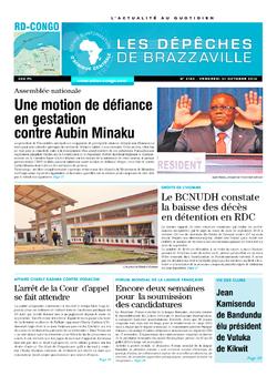 Les Dépêches de Brazzaville : Édition kinshasa du 31 octobre 2014