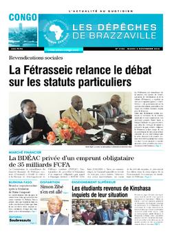 Les Dépêches de Brazzaville : Édition brazzaville du 04 novembre 2014