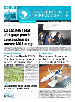 Les Dépêches de Brazzaville : Édition brazzaville du 05 novembre 2014