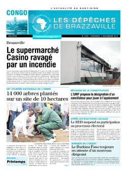 Les Dépêches de Brazzaville : Édition brazzaville du 07 novembre 2014