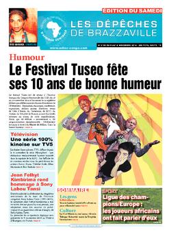 Les Dépêches de Brazzaville : Édition du 6e jour du 08 novembre 2014
