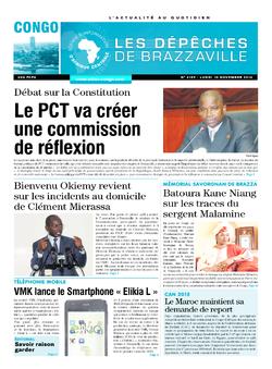 Les Dépêches de Brazzaville : Édition brazzaville du 10 novembre 2014