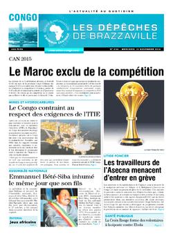 Les Dépêches de Brazzaville : Édition brazzaville du 12 novembre 2014
