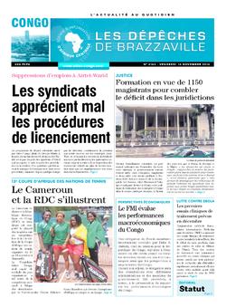 Les Dépêches de Brazzaville : Édition brazzaville du 14 novembre 2014