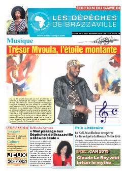 Les Dépêches de Brazzaville : Édition du 6e jour du 15 novembre 2014