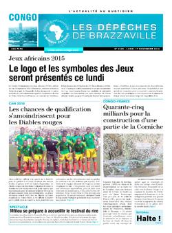 Les Dépêches de Brazzaville : Édition brazzaville du 17 novembre 2014