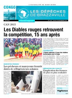 Les Dépêches de Brazzaville : Édition brazzaville du 20 novembre 2014