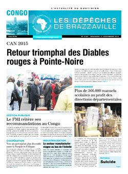 Les Dépêches de Brazzaville : Édition brazzaville du 21 novembre 2014