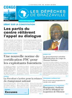 Les Dépêches de Brazzaville : Édition brazzaville du 24 novembre 2014