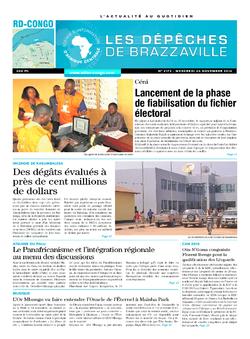 Les Dépêches de Brazzaville : Édition kinshasa du 26 novembre 2014