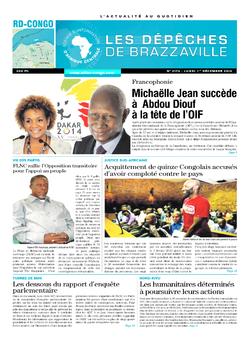 Les Dépêches de Brazzaville : Édition kinshasa du 01 décembre 2014