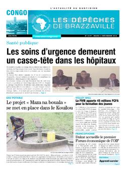 Les Dépêches de Brazzaville : Édition brazzaville du 02 décembre 2014
