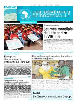 Les Dépêches de Brazzaville : Édition kinshasa du 02 décembre 2014