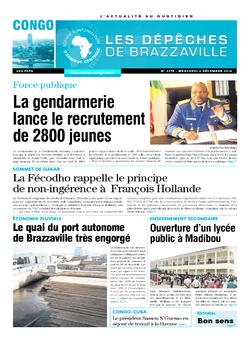 Les Dépêches de Brazzaville : Édition brazzaville du 03 décembre 2014