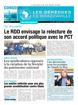 Les Dépêches de Brazzaville : Édition brazzaville du 05 décembre 2014