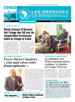 Les Dépêches de Brazzaville : Édition brazzaville du 08 décembre 2014