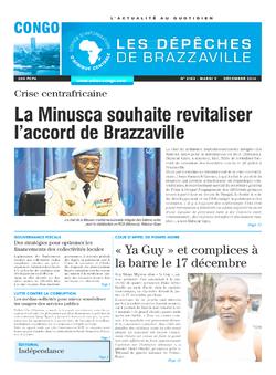 Les Dépêches de Brazzaville : Édition brazzaville du 09 décembre 2014