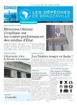 Les Dépêches de Brazzaville : Édition brazzaville du 10 décembre 2014
