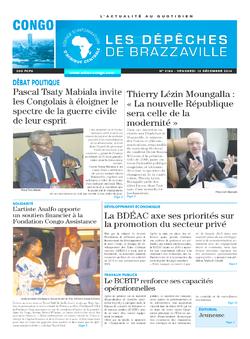 Les Dépêches de Brazzaville : Édition brazzaville du 12 décembre 2014