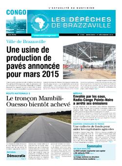 Les Dépêches de Brazzaville : Édition brazzaville du 17 décembre 2014
