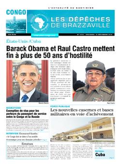 Les Dépêches de Brazzaville : Édition brazzaville du 19 décembre 2014