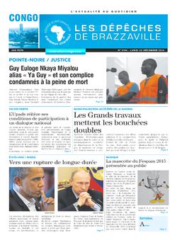 Les Dépêches de Brazzaville : Édition brazzaville du 22 décembre 2014