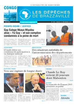 Les Dépêches de Brazzaville : Édition brazzaville du 23 décembre 2014