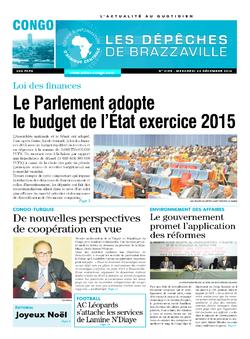 Les Dépêches de Brazzaville : Édition brazzaville du 24 décembre 2014