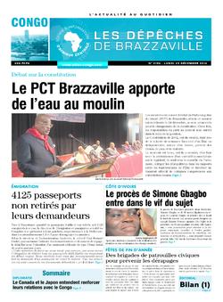 Les Dépêches de Brazzaville : Édition brazzaville du 29 décembre 2014