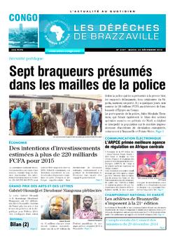 Les Dépêches de Brazzaville : Édition brazzaville du 30 décembre 2014