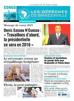 Les Dépêches de Brazzaville : Édition brazzaville du 05 janvier 2015