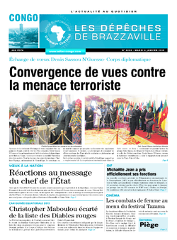 Les Dépêches de Brazzaville : Édition brazzaville du 06 janvier 2015