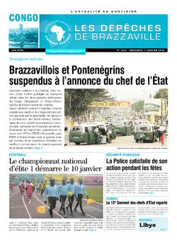 Les Dépêches de Brazzaville : Édition brazzaville du 07 janvier 2015