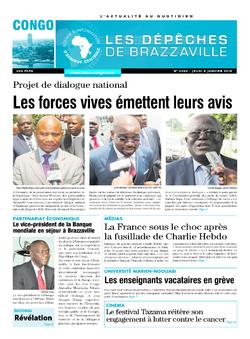 Les Dépêches de Brazzaville : Édition brazzaville du 08 janvier 2015