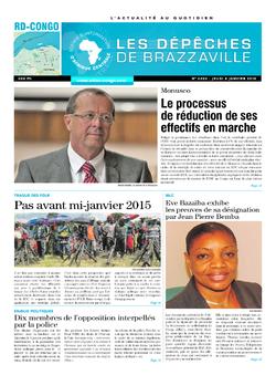 Les Dépêches de Brazzaville : Édition kinshasa du 08 janvier 2015