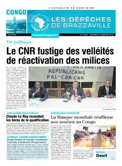 Les Dépêches de Brazzaville : Édition brazzaville du 09 janvier 2015