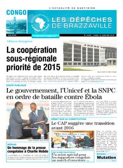 Les Dépêches de Brazzaville : Édition brazzaville du 12 janvier 2015