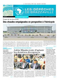 Les Dépêches de Brazzaville : Édition kinshasa du 12 janvier 2015