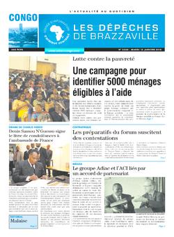 Les Dépêches de Brazzaville : Édition brazzaville du 13 janvier 2015