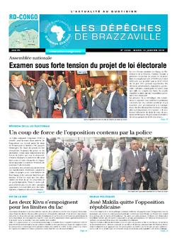 Les Dépêches de Brazzaville : Édition kinshasa du 13 janvier 2015