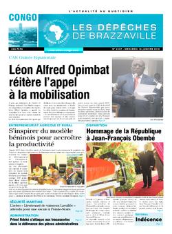 Les Dépêches de Brazzaville : Édition brazzaville du 14 janvier 2015