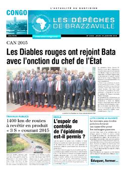 Les Dépêches de Brazzaville : Édition brazzaville du 15 janvier 2015