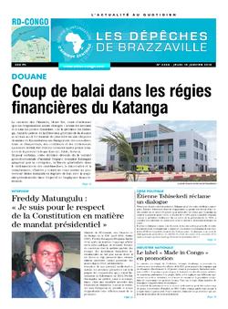 Les Dépêches de Brazzaville : Édition kinshasa du 15 janvier 2015