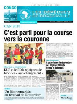 Les Dépêches de Brazzaville : Édition brazzaville du 16 janvier 2015